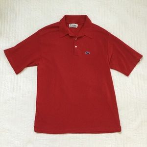 Vintage Izod Lacoste Red Polo Shirt